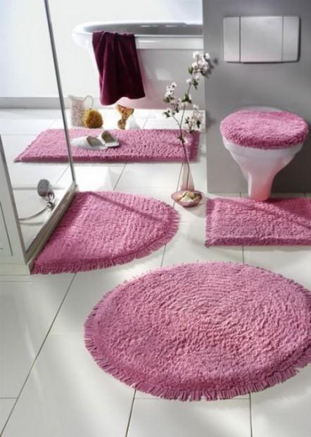 Decoración de baños con kit de alfombras2