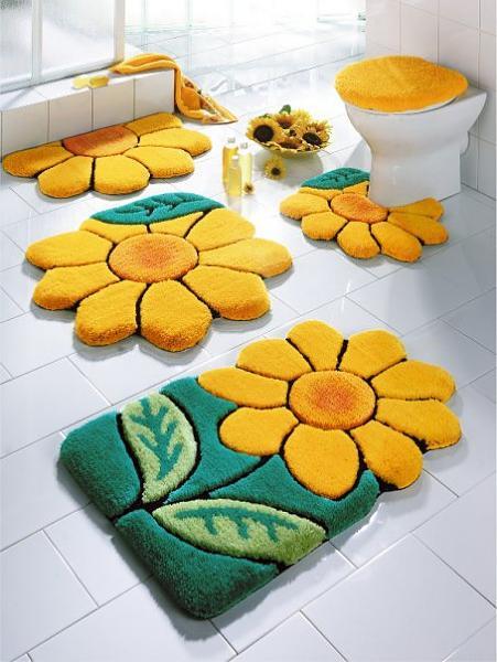 Decoración de baños con kit de alfombras3