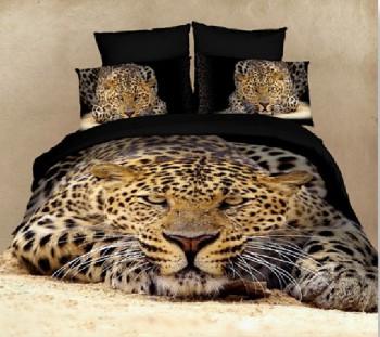 Decoración de dormitorios Camas animal print