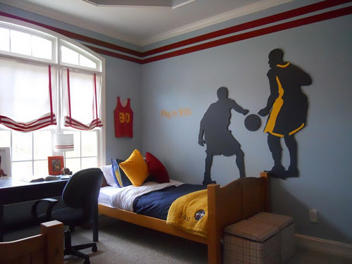 Decoración dormitorio NBA