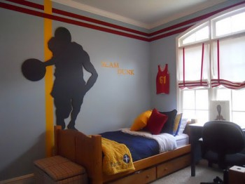 Decoración dormitorio NBA1