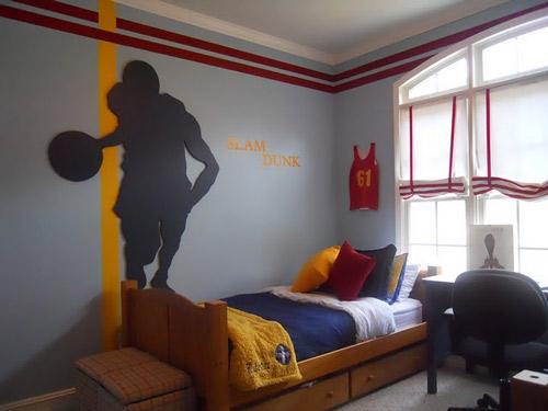 Decoraci n dormitorio nba - Decoracion de paredes dormitorios juveniles ...