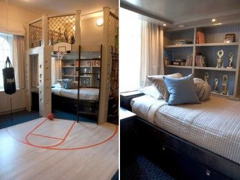 Decoracion de dormitorio tematica deportes