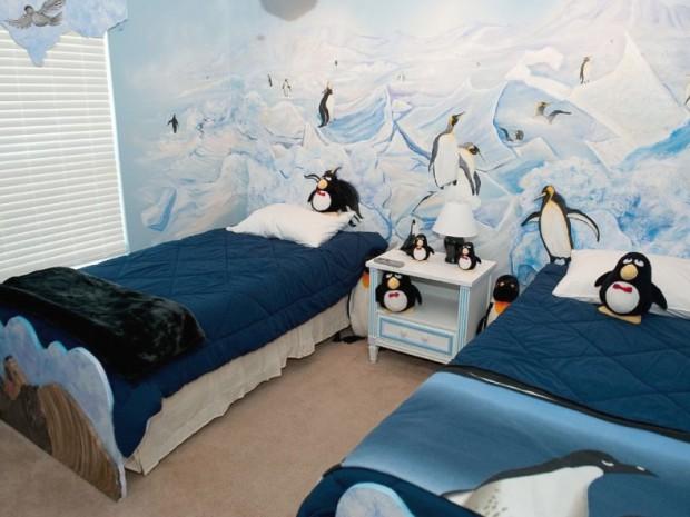 Decoracion dormitorio infantil tematica pingüinos 3