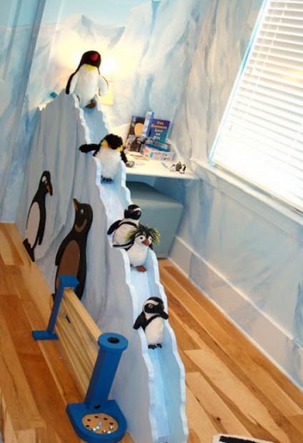 Decoracion dormitorio infantil tematica pingüinos 5