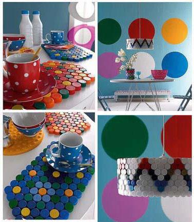 Decorar cocina con tapones de pl stico - Manualidades recicladas para decorar ...