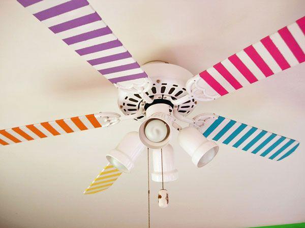 Decorar ventilador de techo para dormitorios infantiles 2