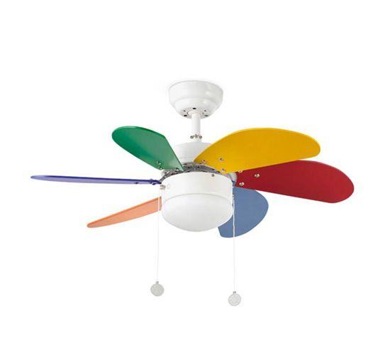Decorar ventilador de techo para dormitorios infantiles 3