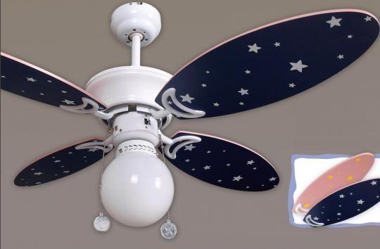 Decorar ventilador de techo para dormitorios infantiles 4