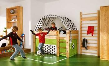 Dormitorio infantil temática futbol 2