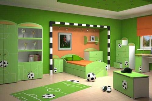 Dormitorio infantil temática futbol 3