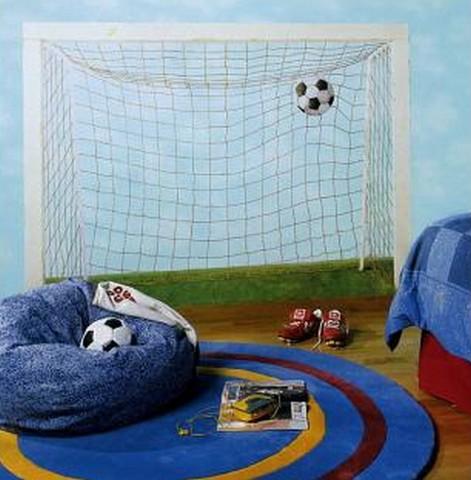 Dormitorio infantil temática futbol 4