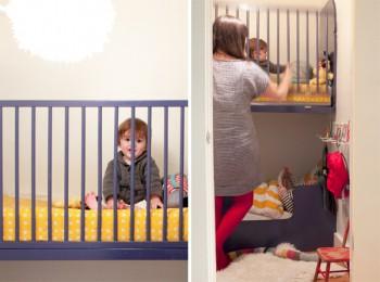 Dormitorio para niños en un armario 1