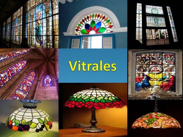El uso de los vitrales en la decoración.