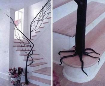 Escalera de diseño inspirada en un arbol
