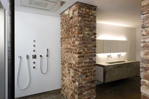 Ladrillos de vista para decorar baños 1