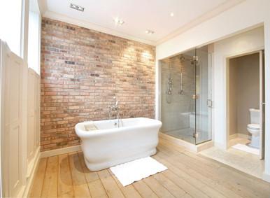 Ladrillos de vista para decorar baños 3