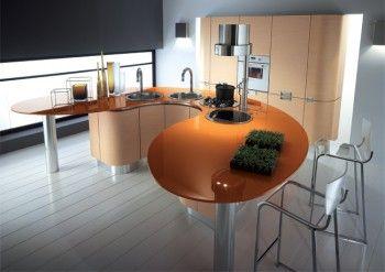 Mesas de cocina sinuosas