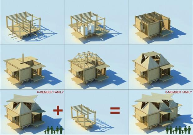 Moderna casa de bambú