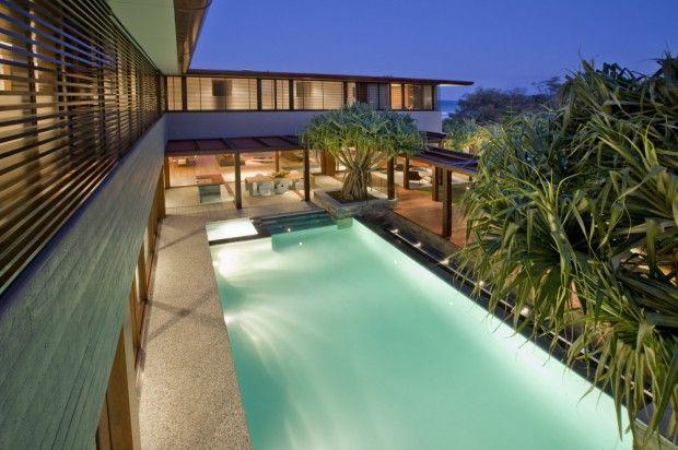 Moderna residencia australiana patio