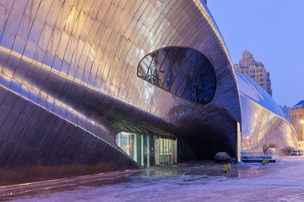 Moderno museo chino material tragaluz