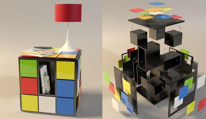 """Muebles de inspiración """"Cubo Rubik"""" 4"""