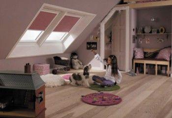 Un dormitorio infantil en la buhardilla