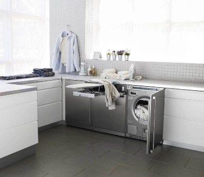 Zona de lavado y planchado en la cocina for Mueble lavadora
