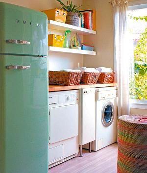 Zona de lavado y planchado en la cocina for Lavadero de cocina con mueble