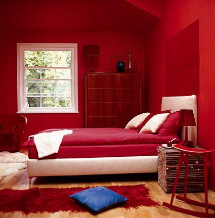 habitaciones en rojo