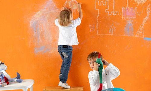 Paredes interactivas para ni os - Pinturas lavables para paredes ...