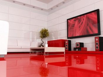 Inspiraci n salas en rojo for Foto interior design