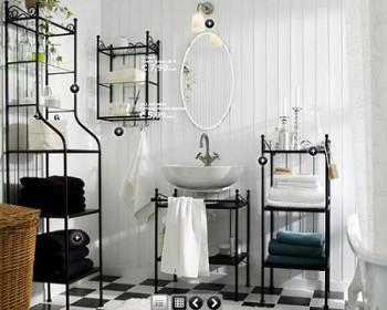 Baño decorado con muebles de forja