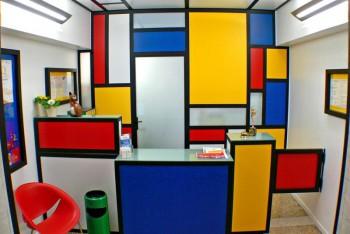 Decoración estilo Mondrian