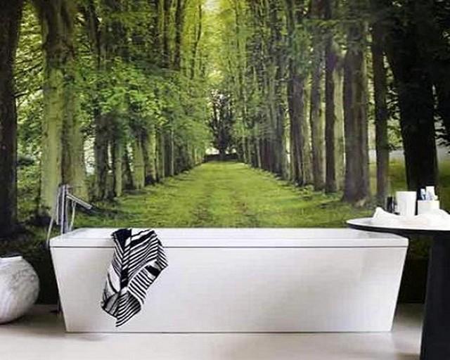 Decorar el baño con paisajes 2