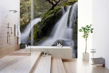 Decorar el baño con paisajes