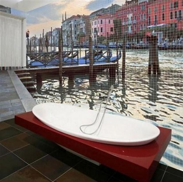 Decorar el baño con paisajes 4