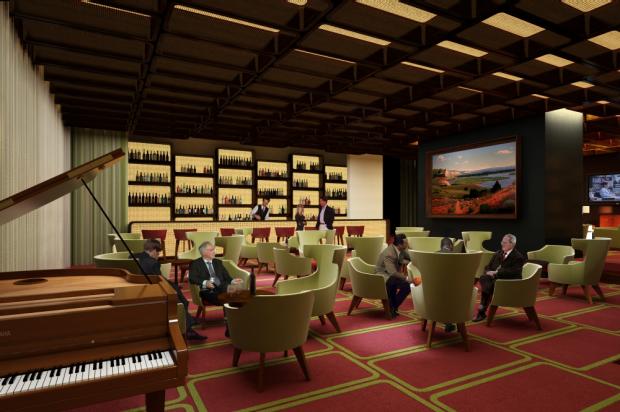 Diseño de interiores de moderno hotel