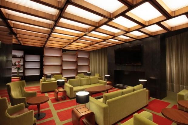Diseño de interiores de moderno hotel living