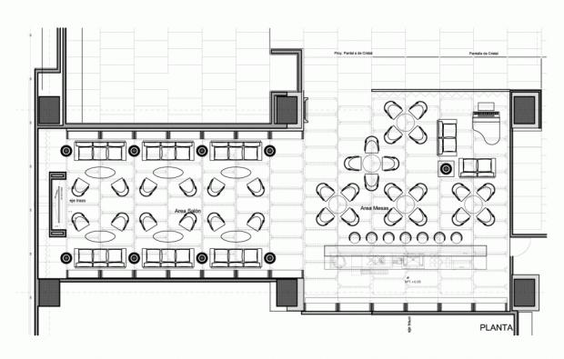 Diseño de interiores de moderno hotel plano
