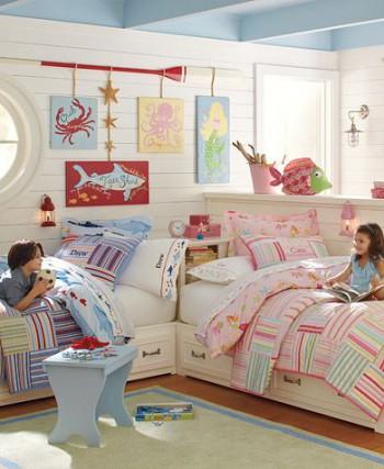 Dormitorio compartido niño y niña