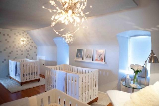 Dormitorio para bebes trillizos - Habitaciones para bebes gemelos ...