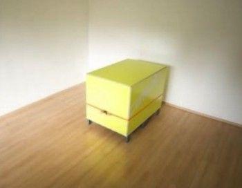 La caja amarilla, un mueble funcional y minimalista