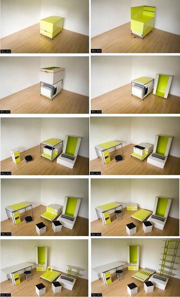 La caja amarilla, un mueble funcional y minimalista. 1