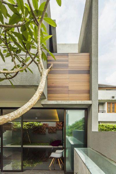 Moderna vivienda en Indonesia aberturas