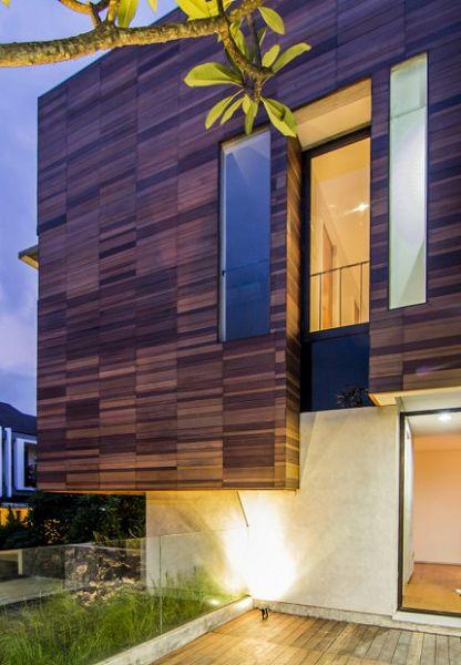 Moderna vivienda en Indonesia fachada