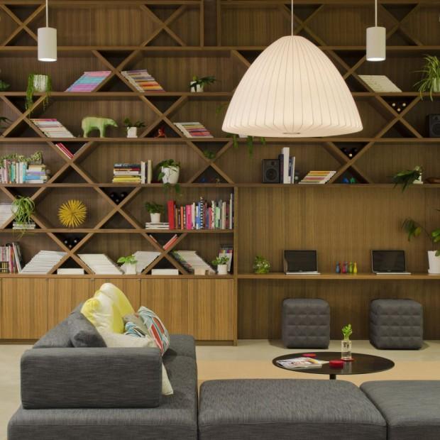 Modernas Oficinas interiores estantería