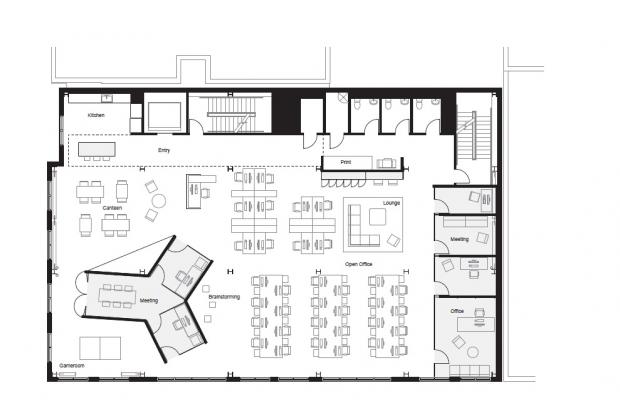 Modernas Oficinas plano