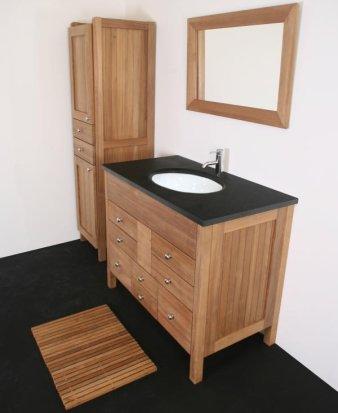 Muebles de teca para el baño
