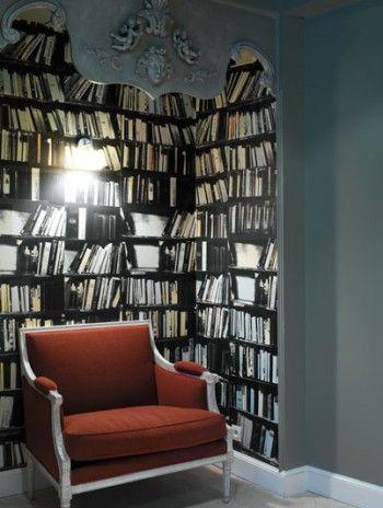Muebles y accesorios vintage impresos en papel de paredes 2